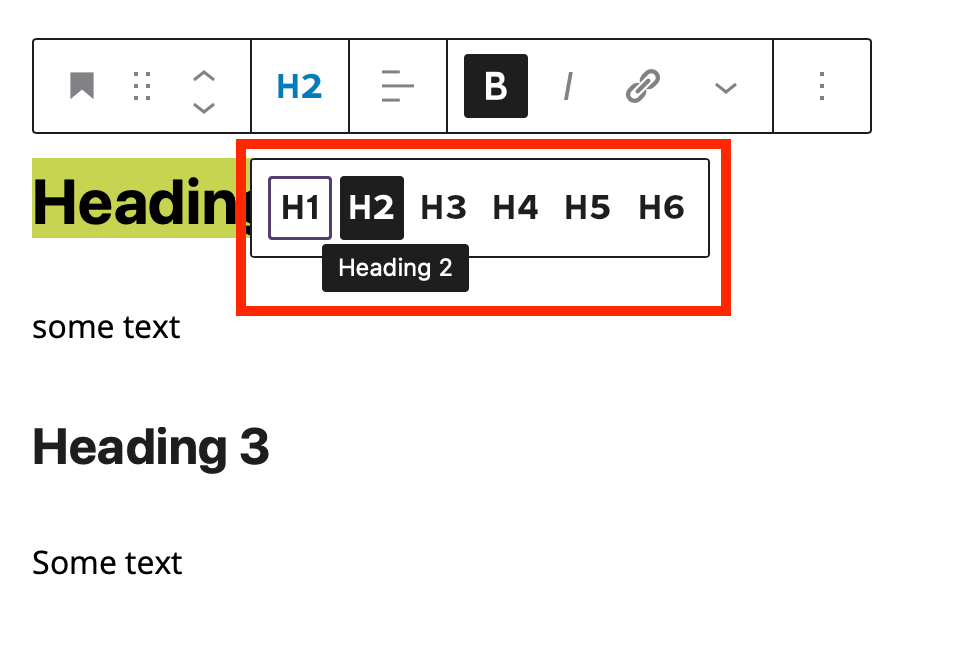 adding heading tags in blogging content