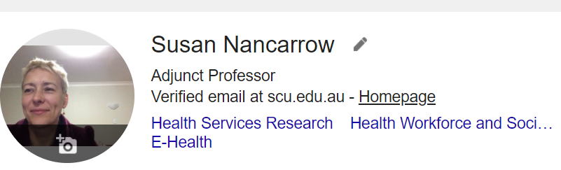 Professor Susan Nancarrow - Academic Recruiter