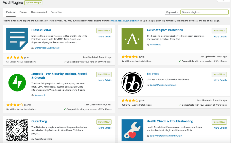 WordPress plugin repository for setting up your academic website