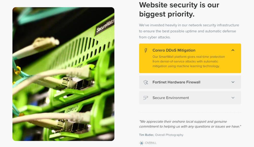 VentraIP hosting security features
